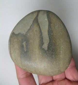 广西天然大湾石,文玩奇石,山字石,笔架山,保证是天然图案。-收藏网