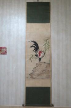 徐悲鸿画公鸡作品立轴-收藏网
