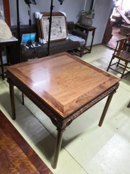 铁力木 透雕梅花纹方桌 渝森家具-收藏网