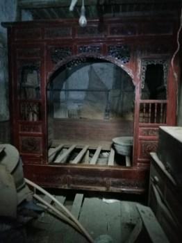 清代乾隆年间雕花老床(第二件)-收藏网