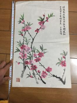 国画 一支独秀梅花图-收藏网