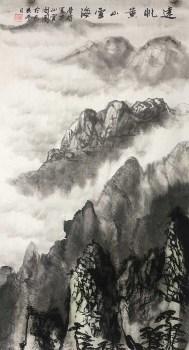 S1-19远眺黄山云海-收藏网