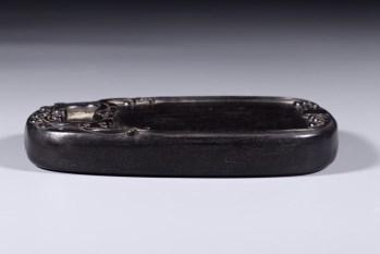 小叶紫檀螭龙纹砚台-收藏网