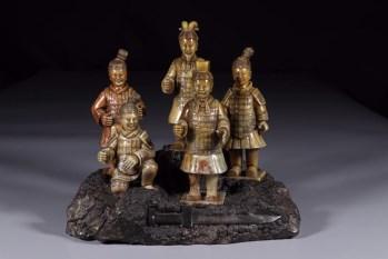 旧藏 寿山石兵马俑五件一组-收藏网