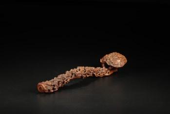 旧藏,黄杨木十八罗汉如意摆件-收藏网