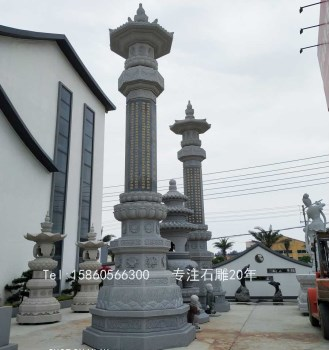 佛教的石雕艺术经幢石雕,金刚宝塔石雕,刻经文的石柱子-收藏网
