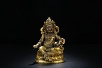 """清代 铜胎鎏金""""黄财神""""像一尊 -收藏网"""