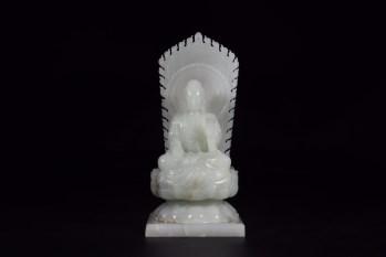 清代:和田白玉释迦牟尼坐像 -收藏网