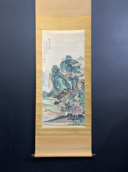 吴湖帆秋嵐浮翠图-收藏网