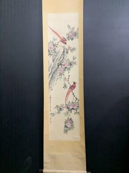 颜伯龙精品喜鹊图画芯尺寸132*32-收藏网