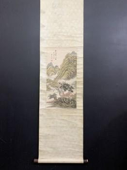 吴琴木精品山水图画芯尺寸64*31-收藏网