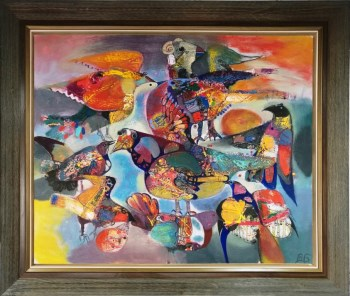 群鸟,俄罗斯功勋艺术家-中国收藏网