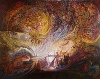 激战,俄罗斯联邦哈卡斯共和国美术家协会主席-中国收藏网